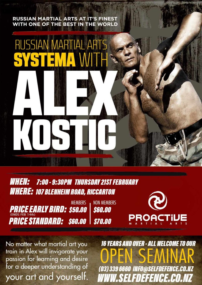 Alex Kostic Seminar Learn Martial Arts From The Best Proactive